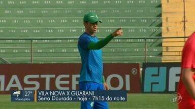 Guarani se prepara para enfrentar o Vila Nova fora de casa - Bugre quer eliminar chances de rebaixamento em partida que ocorre no Serra Dourada nesta quarta-feira (13).