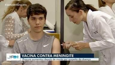 Após suspeita de morte relacionada a meningite, aumenta procura por vacinas em Goiás - Secretaria de Saúde descartou surto da doença.