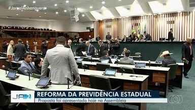 Proposta da reforma da previdência para servidores de Goiás é apresentada em Goiânia - O projeto está enfrentando resistência até na base do governo.