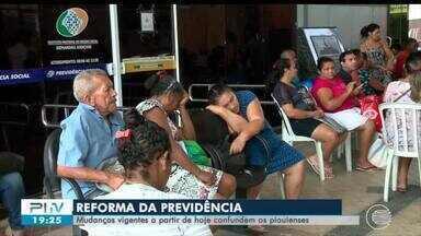 Mudanças após reforma da previdência confundem piauienses - Mudanças após reforma da previdência confundem piauienses