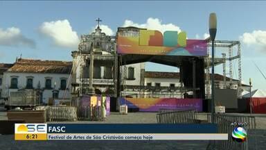 Festival de Artes de São Cristóvão começa nesta quinta-feira - A repórter Kedma Ferr tem mais informações.