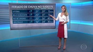Temporais em Vitória, São Paulo e Rio de Janeiro; veja a previsão do tempo para sexta (15) - Nordeste terá sol; aviso de ressaca nas regiões Sul e Sudeste