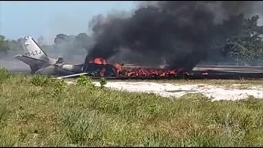 Avião cai durante o pouso na pista de um resort em Barra Grande (BA) - Uma pessoa morreu e outras nove ficaram feridas, entre elas o ex-piloto da Stock Car, Tuka Rocha, e parentes do deputado federal Guilherme Mussi.