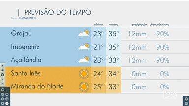 Veja as variações das temperaturas no Maranhão - Confira a previsão do tempo nesta sexta-feira (15) em São Luís e também no interior do estado.