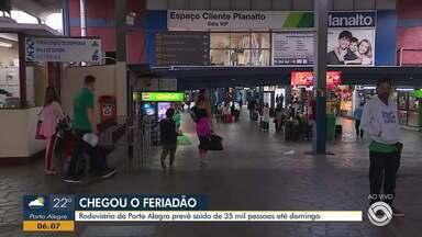 Rodoviária de Porto Alegre prevê saída de 35 mil pessoas até domingo - Assista ao vídeo.