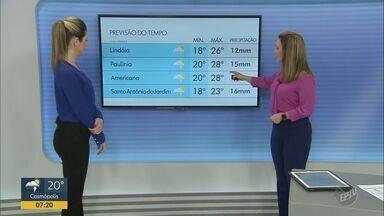 Região de Campinas terá sol a partir de sábado (16) - Confira a previsão do tempo completa para o fim de semana.