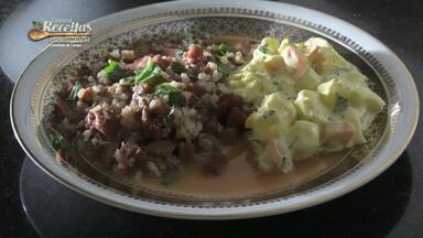 Aprenda a fazer arroz cateto com lombinho suíno defumado e maionese de mandioca - A receita é finalista do concurso 2019, representando a região de Cascavel