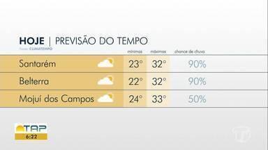 Confira a previsão do tempo para Santarém e oeste do Pará - Saiba como fica o tempo e o clima nesta sexta-feira (15).