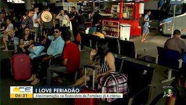 Feriadão: Passageiros lotam a rodoviária de Fortaleza - Confira mais notícias em g1.globo.com/ce