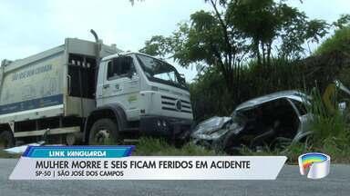 Acidente com caminhão de lixo na SP-50 deixou uma mulher morta e seis feridos - Acidente foi na manhã desta sexta-feira (15).