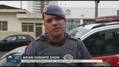 Quadrilha especializada em furtar celulares é presa em Franca, SP - Ladrões saíram de Brasília (DF) para cometer crimes durante show sertanejo.