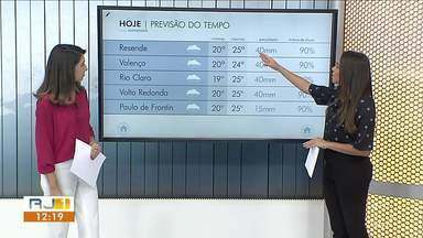 Feriado será de chuva a qualquer hora no Sul do Rio - Tempo segue instável na região.