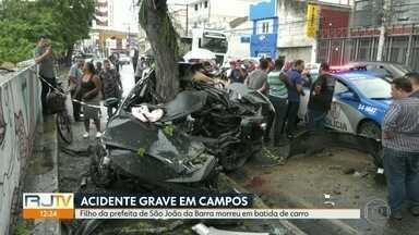 Acidente grave em Campos deixa um morto - A vítima era filha da prefeita de São João da Barra.