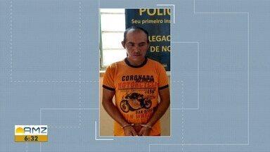 Polícia Civil prende acusado de matar tuxaua em comunidade indígena de RR - Vítima foi assassinada a golpes de faca durante uma briga após discussão em uma festa de aniversário. Crime ocorreu em novembro de 2007.