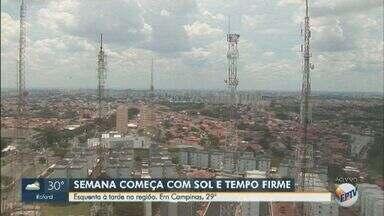 Confira a previsão do tempo para o início da semana nas cidades da região de Campinas - Máxima de 29°C nesta segunda-feira (18) em Campinas.