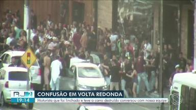Polícia Civil ouve sete envolvidos em agressão de motorista em Volta Redonda - Eles irão responder por dano qualificado e lesão corporal dolosa. Jovem agredido contou a versão dele da história.