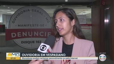 OGE-MG leva Projeto Ouvidoria Móvel a Vespasiano, na Grande BH - Durante todo o dia, os moradores podem registrar comentários, reclamações, denúncias e elogios sobre a qualidade dos serviços prestados pelo governo do estado.