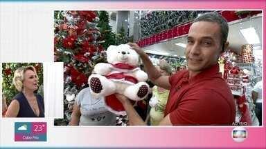 Feriado movimentado na 25 de Março, em São Paulo - Fabricio Battaglini mostra artigos para decorar a casa para o Natal