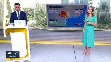 Confira a previsão do tempo - Chuvas continuam na capital, apesar do tempo abafado.