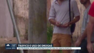 Imagens exclusivas mostram consumo e venda de drogas em Ceilândia - Dados da Secretaria de Segurança e do MPDFT mostram aumento no número de prisões por tráfico.