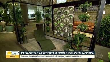 Paisagistas apresentam novas ideias em mostra - Decorações propõem uma reconexão dos espaços com a natureza. Ainda no Quadro Verde, a exposição de orquídeas na Liberdade.