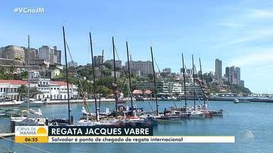 Regata Jacques Vabre reúne cerca de 60 veleiros em Salvador - O último barco aportou na quinta-feira (21) na capital baiana, 13 dias depois do primeiro colocado.