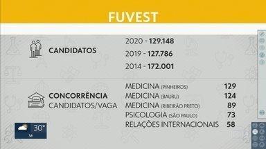 Vestibular da Fuvest é no próximo domingo e deve mobilizar quase 130 mil estudantes - 129 mil candidatos concorrem às 11.147 vagas.