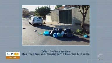 Maneira de recolhimento de lixo é motivo de reclamação em Presidente Prudente - Veja o que a Prudenco diz sobre o assunto.