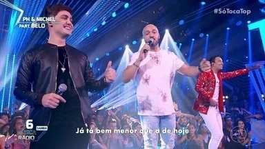 "PH & Michel e Belo cantam ""Eu me acostumei"" - Plateia canta junto"