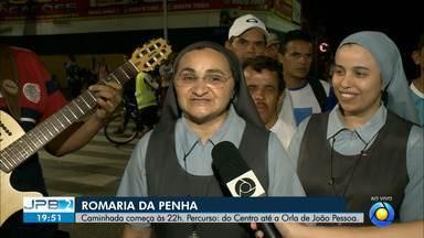 256ª Romaria da Penha começa às 22h deste sábado - Percurso: do Centro até a Orla de João Pessoa.