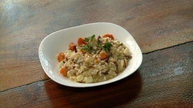 Risoto de de queijo coalho e charque é uma boa pedida para almoço de domingo - Receita que vem da Itália ganhou ingredientes regionais.