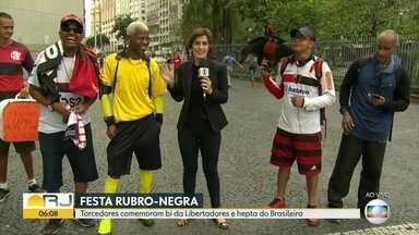 Rubro-negros comemoram bi na Libertadores e hepta do Brasileirão - O fim de semana foi de comemoração pelos títulos conquistados pelo Flamengo.