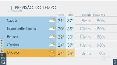 Veja as variações das temperaturas no Maranhão - Confira a previsão do tempo nesta segunda-feira (25) em São Luís e também no interior do estado.