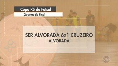 Equipes da região são eliminadas da Copa RS de futsal - Assista ao vídeo.