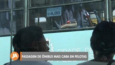 Tarifa de ônibus fica mais cara em Pelotas - Assista ao vídeo.