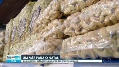 Falta exatamente um mês para o natal chegar - Comerciantes já calculam o aumento nos preços dos produtos das ceia
