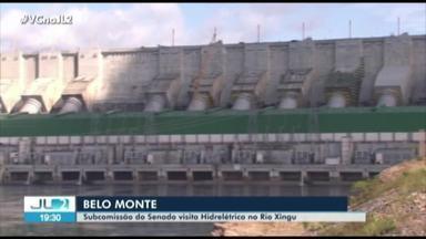 Comissão de senadores visitam usina de Belo Monte, no oeste do PA - O grupo conheceu detalhes da hidrelétrica que vai inaugurar a 18ª turbina na próxima quarta-feira.