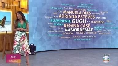 Confira os assuntos mais comentados na internet - Patrícia Poeta fala sobre vitória do Fluminense