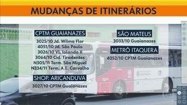 Obra muda o itinerário de 14 linhas de ônibus - O prazo para o término da obra de saneamento ainda não foi definido.