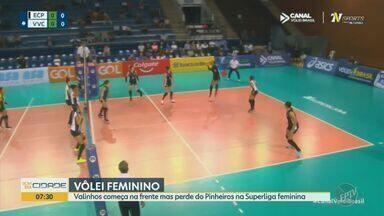 Valinhos começa na frente mas perde para o Pinheiros na Superliga feminina - Pinheiros venceu por 3 sets a 1.