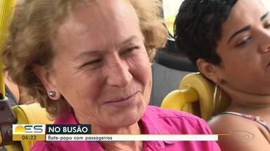 No Busão: TV Gazeta embarca em viagem descontraída com quem usa transporte público no ES - Viagens às vezes são descontraídas.