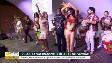 TV Gazeta vai transmitir desfiles das escolas de samba da Grande Vitória - A assinatura com a Liga das Escolas de Samba aconteceu nesta terça-feira (26), na sede da Rede Gazeta. A próxima edição do concurso Garota do Samba também foi confirmada.