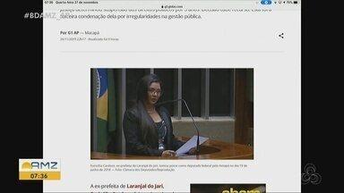 Ex-prefeita Euricélia Cardoso, de Laranjal, é condenada por improbidade administrativa - Justiça determinou suspensão dos direitos políticos por 5 anos. Decisão cabe recurso. Esta foi a terceira condenação dela por irregularidades na gestão pública.