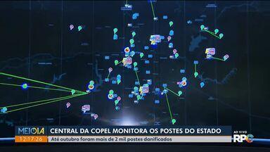 Até outubro mais de 2 mil postes danificados precisaram ser trocados - Conheça a Central da Copel e veja como é feito o monitoramento.