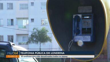 35 orelhões têm sido desativados todo mês, em Londrina - Os orelhões danificados não serão repostos e mais nenhum será instalado.