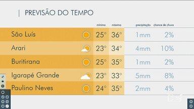 Veja a previsão do tempo no Maranhão - Confira como fica o tempo e a temperatura em São Luís e no Maranhão.