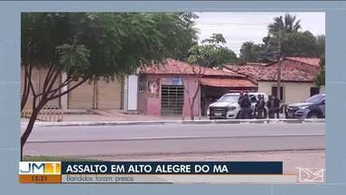 Estão presos homens que assaltaram agência dos Correios em Alto Alegre do Maranhão - Eles foram surpreendidos por policiais militares quando já se preparavam para fugir levando mais de R$ 30 mil.