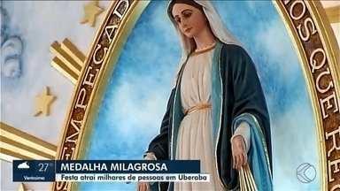 Devotos de cidades da região agradecem Nossa Senhora da Medalha Milagrosa em Uberaba - Festa da Medalha Milagrosa é uma das mais importantes de Uberaba e atraiu fiéis de mais de 20 cidades da região.