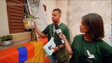 Mais Caminhos acompanha mutirão contra a dengue - Pedro e Cris acompanham os agentes em saúde que passam nas casas para dar dicas de como prevenir os criadouros dos mosquitos;
