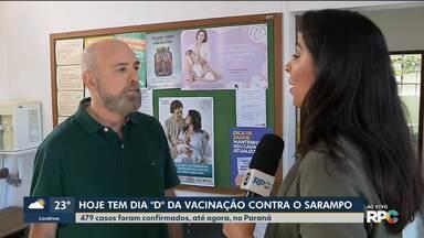 Sábado é dia de campanha de vacinação contra o sarampo - Doença já foi diagnosticada em 479 pessoas no Paraná.
